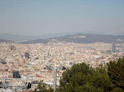 panorama of Barcelona from Montjuric