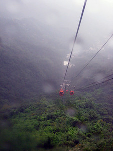 View from the cable car, looking down