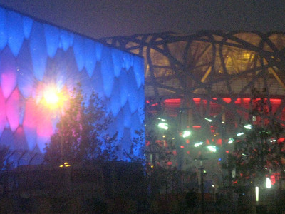 The Water Cube and The Bird's Nest, site of a range of competitions and the opening and closing ceremonies