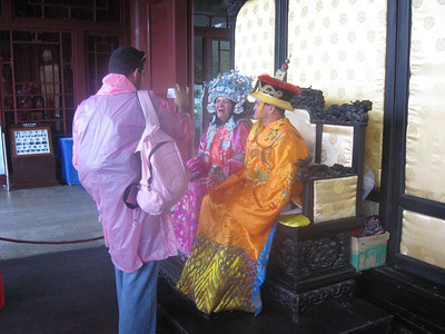 Tourists as emperor and empress