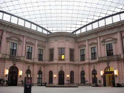 The Zeughaus Courtyard, for the display of cannon--a glass roof was designed by I. M. Pei in conjunction with his design of the Museum's new building.