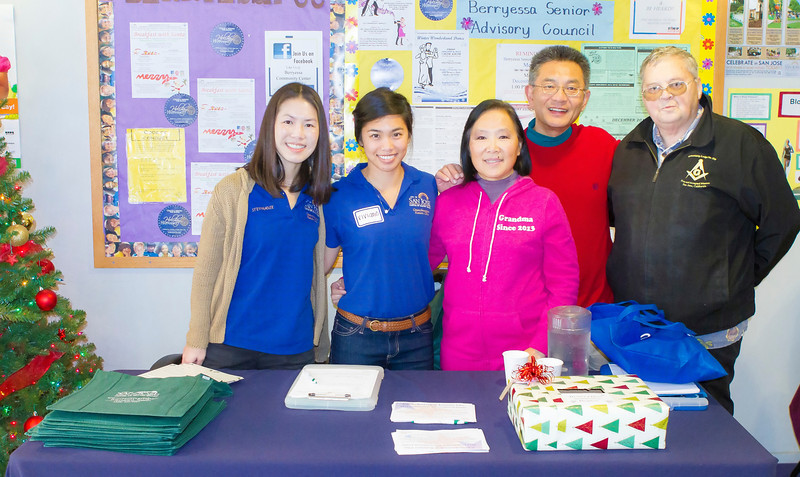 (From R-> L): Bill Mattson (Santa Clara Daylight Lodge); Kansen Chu (SJ Council Member); Daisy Chu (Wife of Kansen Chu); Viviane Nguyen (Council Member Chu - Intern); Stephanie Fong (Council Member Chu District Director)