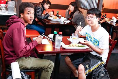 (L->R): Randy Martan and Danial Kim having lunch at Ainiki's.