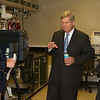 Dr. Tim Norden, Sec. Tom Vilsack, and Mary Alonzo discuss GIPSA's programs for the analysis of grains to detect mycotoxins (such as aflatoxins) and pesticide residues on October 23, 2013.  USDA photo by David Funk.
