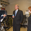 Dr. Tim Norden, Chief of GIPSA's Analytical Chemistry Branch, describes the role of high-tech analytical chemistry in GIPSA's mission to Sec. Tom Vilsack and Mary Alonzo, Director of GIPSA's Technology and Science Division on October 23, 2013. USDA photo by David Funk.