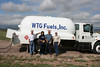 Crew Chief, Rick Hatzel, Terry & javier Juardo of WTG Fuels Office in Alpine refueling balloons at Big Bend Balloon Bash 2008