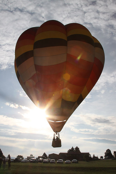 "2009 132nd annual Colorado Press Association Feature Photography, 1st place, ""Balloons Rising"""