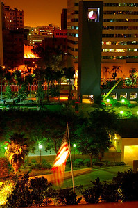 Pershing Park at night, Sept 2005
