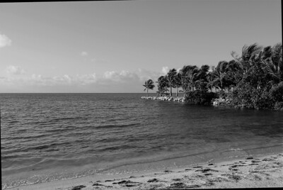 Private beach off of mile marker 86, Atlantic coast, Florida Keys, Florida.