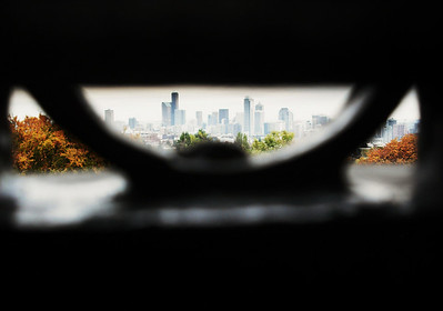 View of downtown Seattle from Water Tower, Volunteer Park
