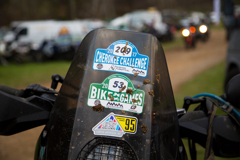 Sticker design for Cherokee Challenge and Bike Games at March Moto Maddness 2017 in Tellico Plains, TN.