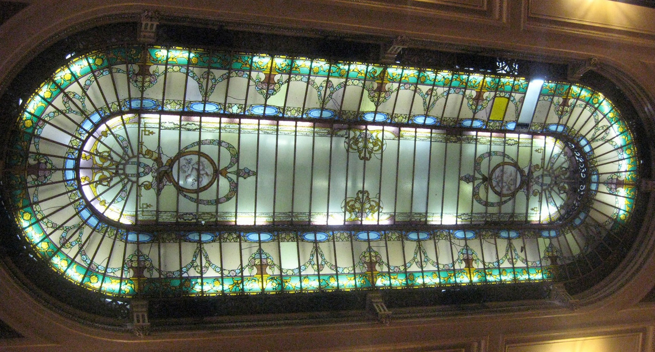 The Colombo stained glass ceiling ...