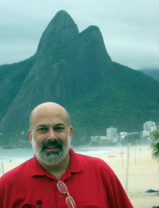 """Who cares?!  Here's the """"Guy (On The Beach At) Ipanema"""" with the Two Brothers in the Background.    Actually the song was inspired by one Helo Pinheiro, now 63, a grandmother still living in Rio, and, I'm told, quite attractive."""