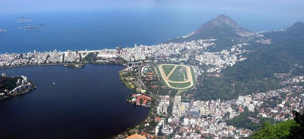 Rio Panorama #2--Lagoa Rodrigo de Frietas and Morro Dois Irmaos (Two Brothers)