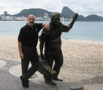 Me and friend on Copacabana Beach.