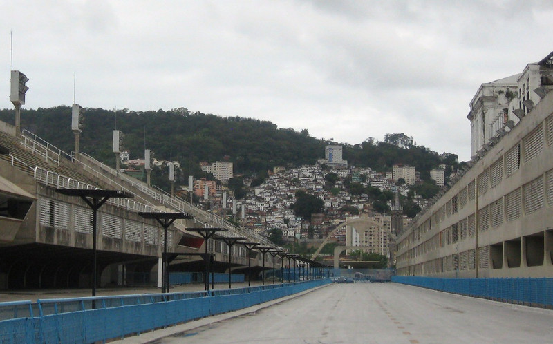 """Time for a city tour--first stop:  the """"Sambadrome""""--site of Carnaval and the parade of the Samba Schools."""