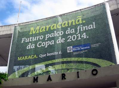 A visit to Maracana Stadium--it can host crowds of up to 200,000 (for soccer and rock concerts).
