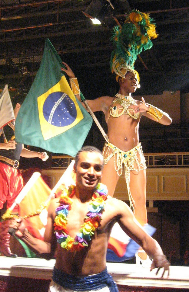 But not before waving the Brazilian flag.