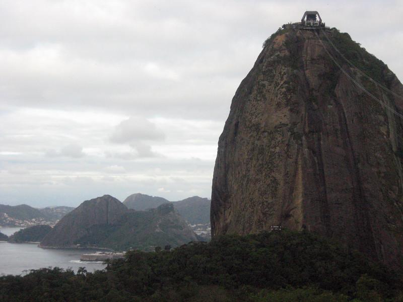 The summit of granite and quartz Sugar Loaf (Pao de Acucar) looms.