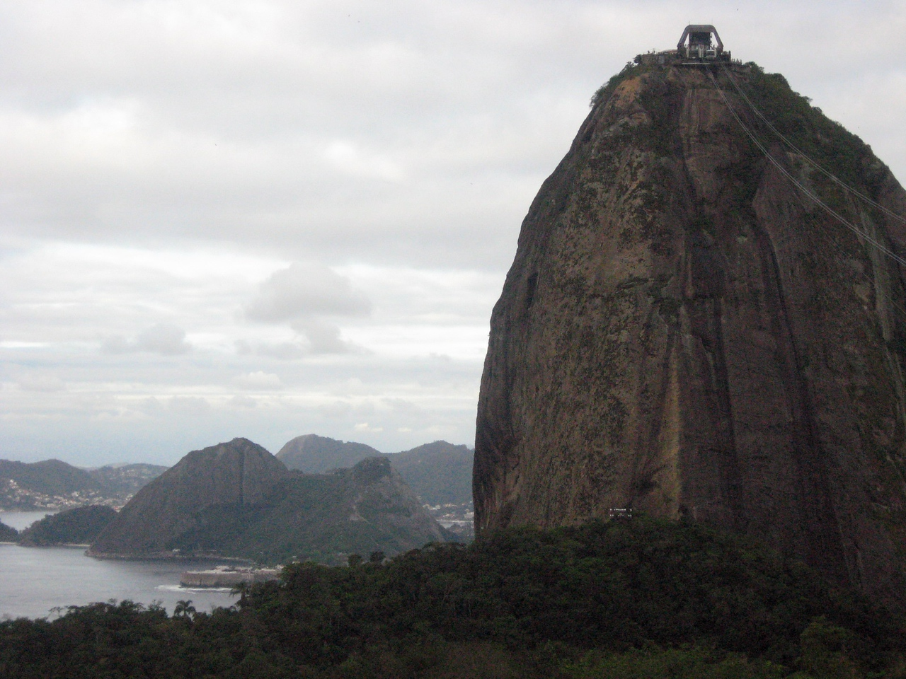 The summit of granite and quartz Sugar Loaf (Pao de Acucar) looms.