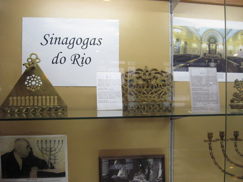 Rio is home to a tiny Museu Judaico, displaying a small collection of menorah and explanations of Judaism.