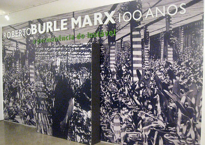 An exhibit/celebration of the centennial of Roberto Burle Marx' birth.  Marx was a major Brazilian painter and landscape architect.