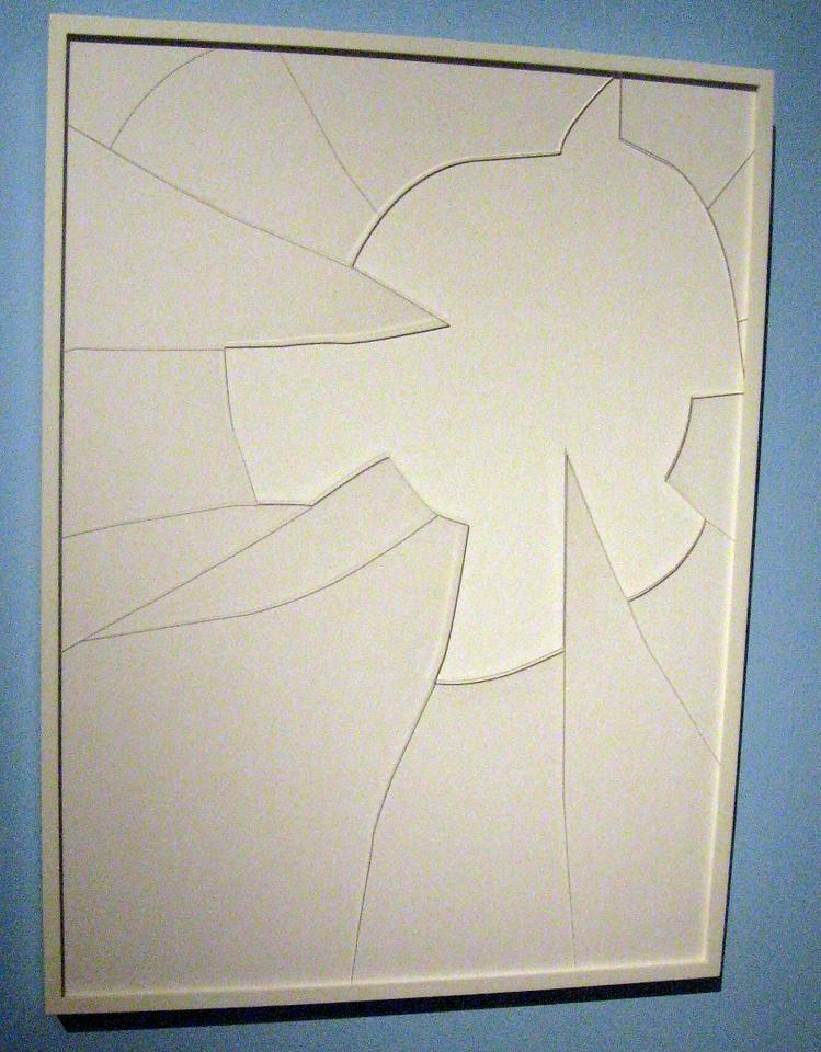 A cracked glass frame, framed.