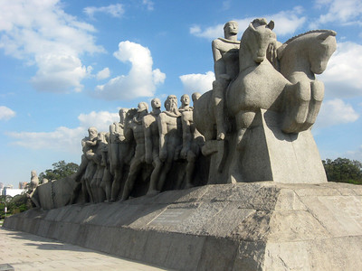 Monumento as Bandeiras--a tribute to explorers who opened up Brazil's interior.  Sculptor--Victor Brecheret.
