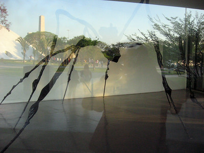 At one end of the MAM, through glass (in an area not open at the time):  a spider sculpture with legs as tall as a man.