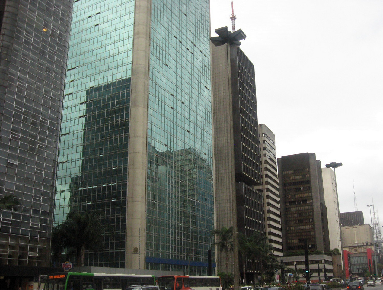 "And back to ""the real world"":  Sao Paulo's answer to New York's Fifth Avenue--Avenue Paulista."