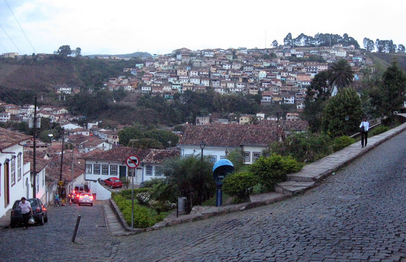 "Still time left to tour a bit of this old mining town (Ouro Preto=""black gold"") and its colonial era architecture ... and steep/narrow streets ala San Francisco, only more steep, more narrow and done in cobble-stone!"