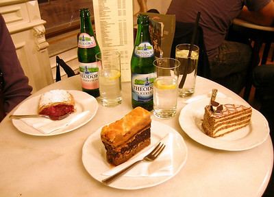 Pastry treats--our farewell to Budapest after our day-long whirlwind tour