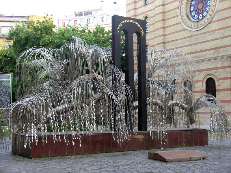 Holocaust Memorial in memory of 600,000 Hungarian Jews killed by the Nazis in World War II