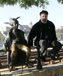 """""""The Little Princess"""" and friend on the Danube (this statue is said to be a favorite of Prince Charles)"""