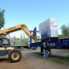 Off loading the new generator.