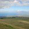 The west view from the Ulupalakua Ranch tower site. Kihei is visible below. You have arrived at the summit!