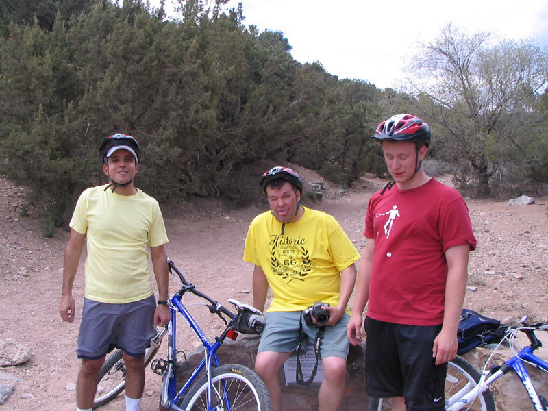Nestor, Phil, and David look tired after getting to the trailhead.