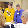 Kevin Young, 14, and Matthew Silva, 14, eighth grader at the Ayer Shirley Middle School works on picking out  places to live on the money their career choses pay them at the CU4 Reality event on Tuesday at the DoubleTree by Hilton in Leominster. A collaboration of credit unions have spent the school year working with Fitchburg, Leominster, Ayer and Clinton schools on a budgeting program based on career choices. On Tuesday they held an event for the students to put what they learned to uses and see if they could live on a budget. SENTINEL & ENTERPRISE/JOHN LOVE