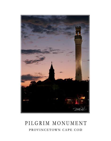 Pirgrim Momument at night