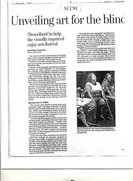 Chicago Tribune-Audio Description
