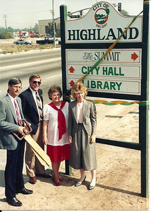 A big deal for Highland back in 1989.  We had reached an agreement with a contractor to erect and maintain directional signs for various developments in Highland.  The City got $12 per slat per month.