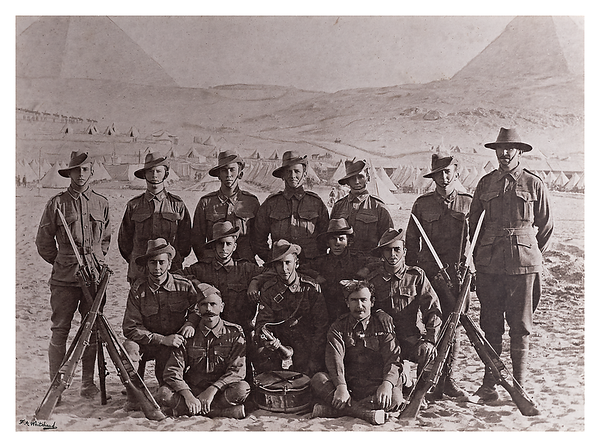 "No. 1 Section of No. 1 Platoon of the ""A"" Coy. of the Ninth Battalion A.I.F."