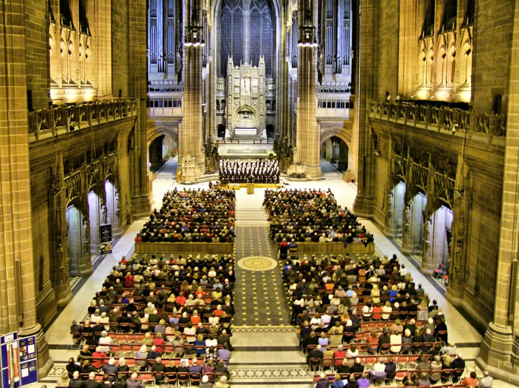 Fron Male Voice Choir Concert  Liverpool Anglican Cathedral in aid of Age UK Wirral  March 2012  © Dark Soul Photography