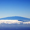 The view from Haleakala to Mauna Kea and the relay site on Mauna Loa (far right above the bump)