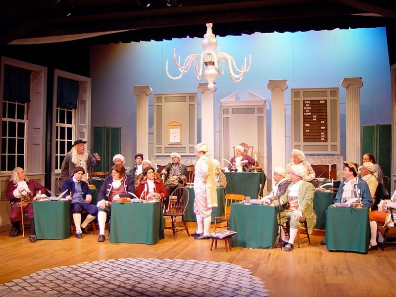 1776  -  The Concord Players, Concord, MA 2004<br /> Set design: Doug Cooper