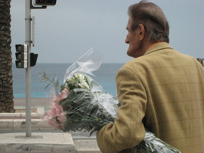 Man with Flowers (Nice,FR)