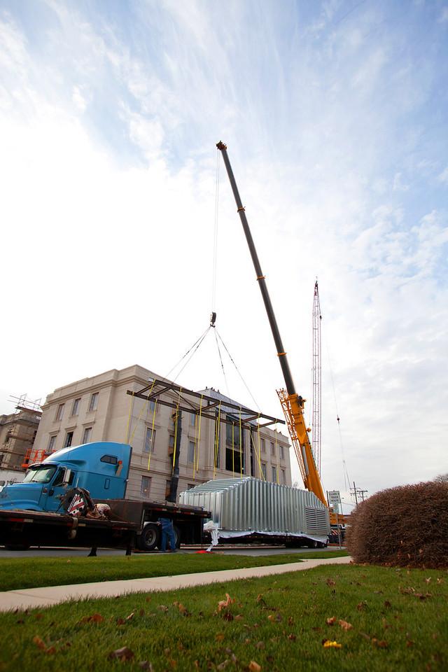 DeKalb Mechanical Courthouse Crane Pick