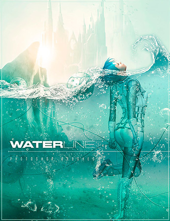 Waterline Photoshop Brushes & PSD Layers...