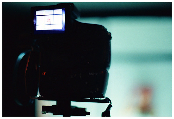 A closeup of my Sony SLT-A77 hard at work. <br /> <br /> (taken with the Minolta Dynax 500si & Kodak Ultramax400)