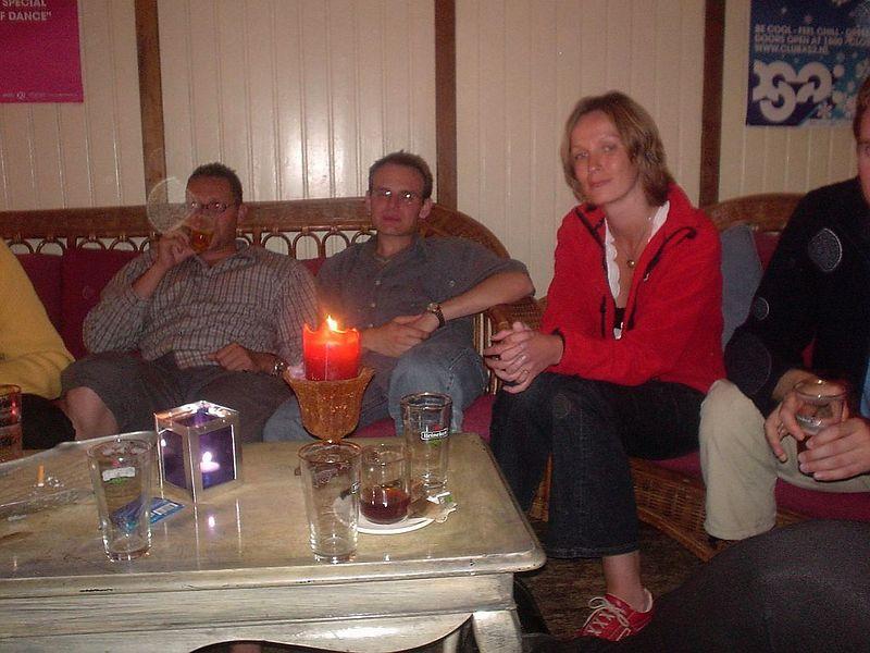 Gert, Alexandre and Petra (Mathieu just on the edge)